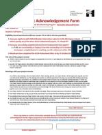 OB Student Acknowledgement Form Nov 2011
