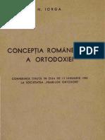 Concepţia românească a ortodoxiei