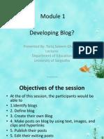 Developing Blog Module