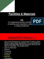 Facilities & Materials