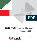 NVR User Manual v2.3.03 AC
