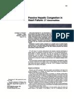 Passive Hepatic Congestion In