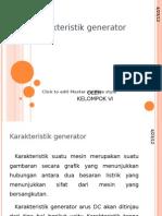 Karakteristik Generator