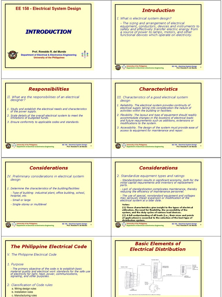 Ee158 Notes 1 Introduction Electrical Engineering Electricity