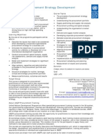 Procurement Strategy Development