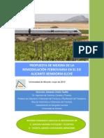 Estudio de la Propuesta de tramo Alicante-Benidorm del Tren de la Costa