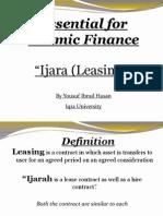 9.Leasing or Ijara