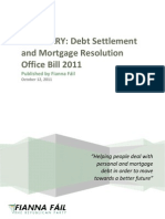 Summary - Debt Settlement and Mortgage Resolution Office Bill 2011