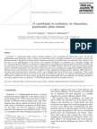 Behavioral Profile of Constituents in Ayahuasca, An Amazonian Psychoactive Plant Mixture 1999 Drug and Alcohol Dependence
