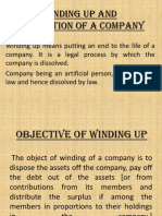 B Law Winding Up and Dissolution of a Company