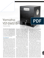 Yamaha YST SW515 Subwoofer Review Lo-Res