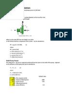Pump Power Calculation