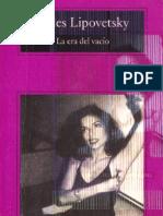 Gilles Lipovetsky - La Era Del Vacio - Capitulo III Fragmento