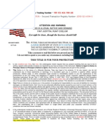 Example Legal Notice & Demand