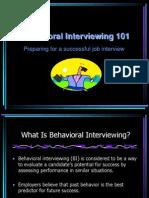 Behavioral Event Interviewing Technique Ppt