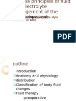 Discuss Principles of Fluid and Electrolyte Inthe Surgical Patient