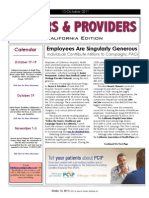 Payers & Providers California Edition – Issue of October 13, 2011