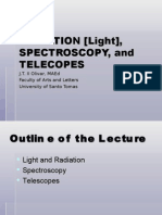 15. RADIATION, SPECTROSCOPY and TELESCOPES