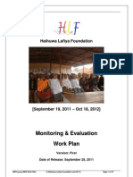 MCH Group M&E Work Plan