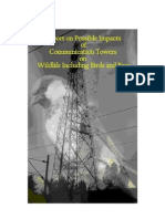 Report on Possible Impacts of Communication Towers on Wildlife Including Birds and Bees - Sukanya Kadyan