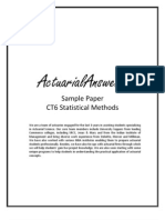 Actuarial CT6 Statistical Methods Sample Paper 2011