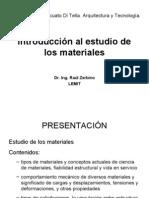 Introducción al estudio de los materiales