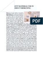 DIFERENT MATERIAL USE IN PRODUCT DESIGNING