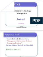 ITM Lecture 1