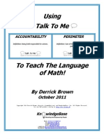 """Using """"Talk to Me"""" to Teach the Language of Math!"""