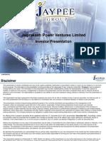 Jaiprakash Power Ventures Limited Investor Presentation 2010