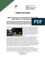 AiNET Commences Construction of Metro Fiber Optic Network in Washington DC