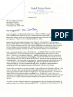 Sen. Carper's Letter to Defense Sec. Panetta on DOD Financial Accountability