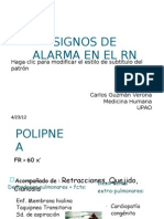 Signos de Alarma en El Rn - Carlos