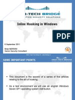 Inline Hooking in Windows