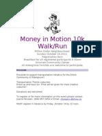 Money in Motion 10k Walk
