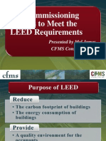 200810 Ashrae Cfms the Commissioning Process to Meet the Leed Requirements