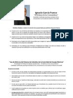 Resumen de primeras medidas propuestas por Ignacio Garcia AEE