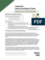 2011 WECDSB Secondary Comment Framework