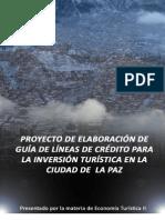 PROYECTOS DE ECONOMÍA TURÍSTICA II 2009