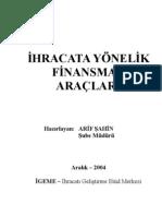 İhracata Yönelik Finansman Araçları