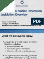 2011 Federal Suicide Prevention Legislation Overview Webinar