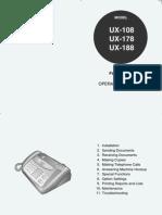 Manual Fax Sharp Ux-108