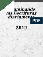Examinando Las Escrituras Diariamente 2012