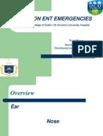 ENT Emergencies 10 Feb 2010