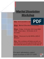Martial Dissolution Workshop