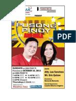 Pusong Pinoy Sa Amerika with Atty. Lou Tancinco, Season 6 starts on Sun. Oct. 16, 2011
