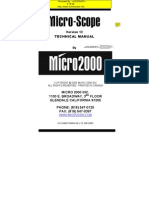 Micro-scope Software Version 12 Technical Manual
