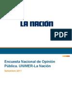 Encuesta Unimer - La Nación