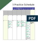 Ttdc Practice Schedule (Dai Hoi La Vang)