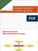 Dimensión programática de la Atención Primaria de Salud